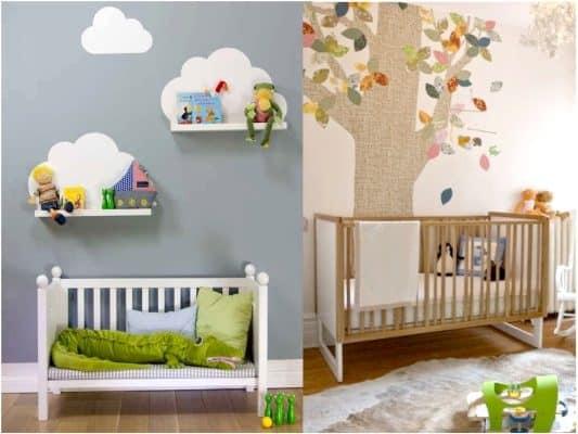 decoracion habitacion niño arboles