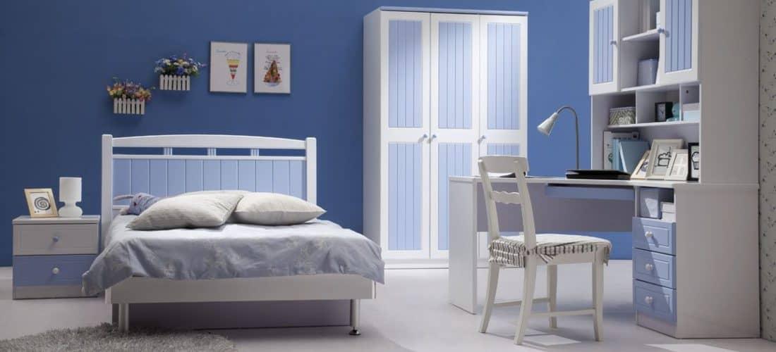 habitacion color azul