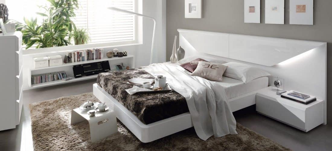 habitacion en color blanco
